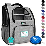 PetAmi Deluxe Pet Carrier Backpack for Small Cats and Dogs, Puppies | Ventilated Design, Two-Sided Entry, Safety Features and