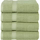 Utopia Towels Premium Combed Cotton Bath Towels, 4 Pack, Sage Green