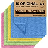 Swedish Dishcloths Eco Friendly Reusable Sustainable Biodegradable Cellulose Sponge Cleaning Cloths for Kitchen Dish Rags Was