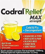 Codral Relief Max Cold & Flu + Decongestant Hot Drink 10
