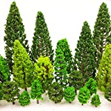 MOMOONNON 36 Pieces Model Trees 1.36-6 inch Mixed Model Tree Train Scenery Architecture Trees Fake Trees for DIY Crafts, Buil