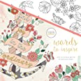 Kaisercraft KaiserColour Perfect Bound Coloring Book-Words to Inspire, Other, Multicoloured, 25.4x24.79x0.81 cm