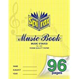 SPIRAX Ruled 242 70gsm Music Book, 96 Pages, (55242)