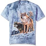The Mountain Wolf Couple Sunset Adult T-Shirt