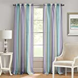 "Achim Home Furnishings Rod Pocket Window Curtain Panel, SPPN63SV06, Lilac/Turquoise, 50"" x 84"""