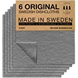 SUPERSCANDI Swedish Dishcloths Eco Friendly Reusable Sustainable Biodegradable Cellulose Sponge Cleaning Cloths for Kitchen D