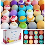 Kay's Bath Bombs Gift Set Fizzies - 12 Pack - Individually Wrapped Assorted Scents - Made in USA - Shea & Mango Butter, Essen