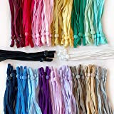 Adjustable Elastic Ear Loops for Sewing Face Masks (Assorted (20 Colors), 200 pcs)