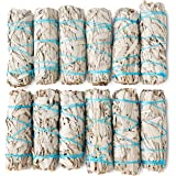 JL Local 12 Pack White Sage Smudge Sticks for Smudging & Cleansing   Smudge Kit White Sage Incense Sticks for Cleansing