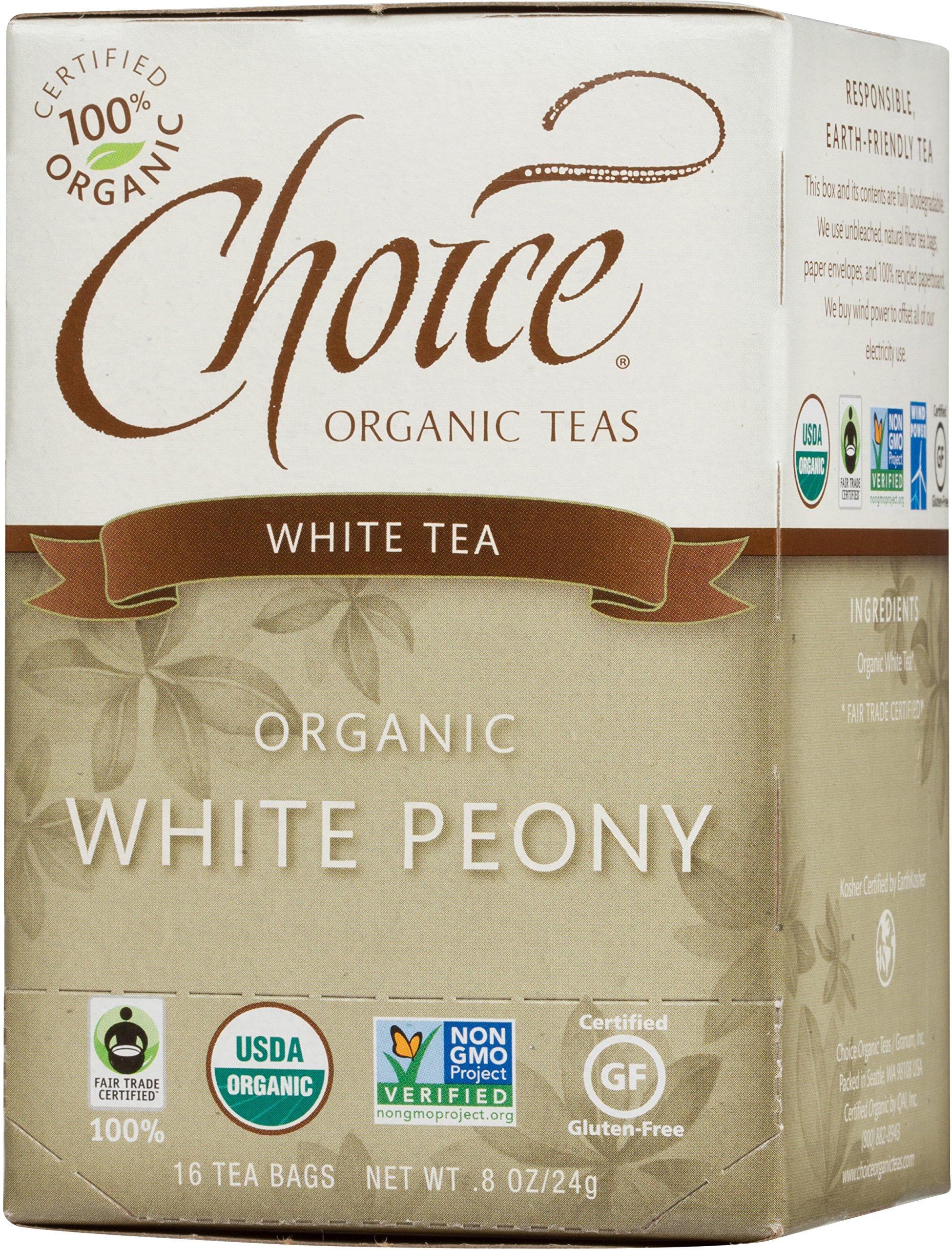 Organic Teas 海外直送品Choice Organic Teas White Peony Tea, 16 BAGS