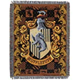 """Harry Potter Woven Tapestry Throw Blanket, Brown, 48'"""" x 60"""""""