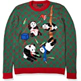 Blizzard Bay Men's Drunk Panda Party Ugly Christmas Sweater