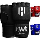 Hawk Padded Inner Gloves Training Gel Elastic Hand Wraps for Boxing Gloves Quick Wraps Men & Women Kickboxing Muay Thai MMA B