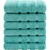 American Soft Linen Luxury Hotel & Spa Quality, 100% Turkish Genuine Cotton, 16x28 Inches 6-Piece Hand Towel Set for Maximum