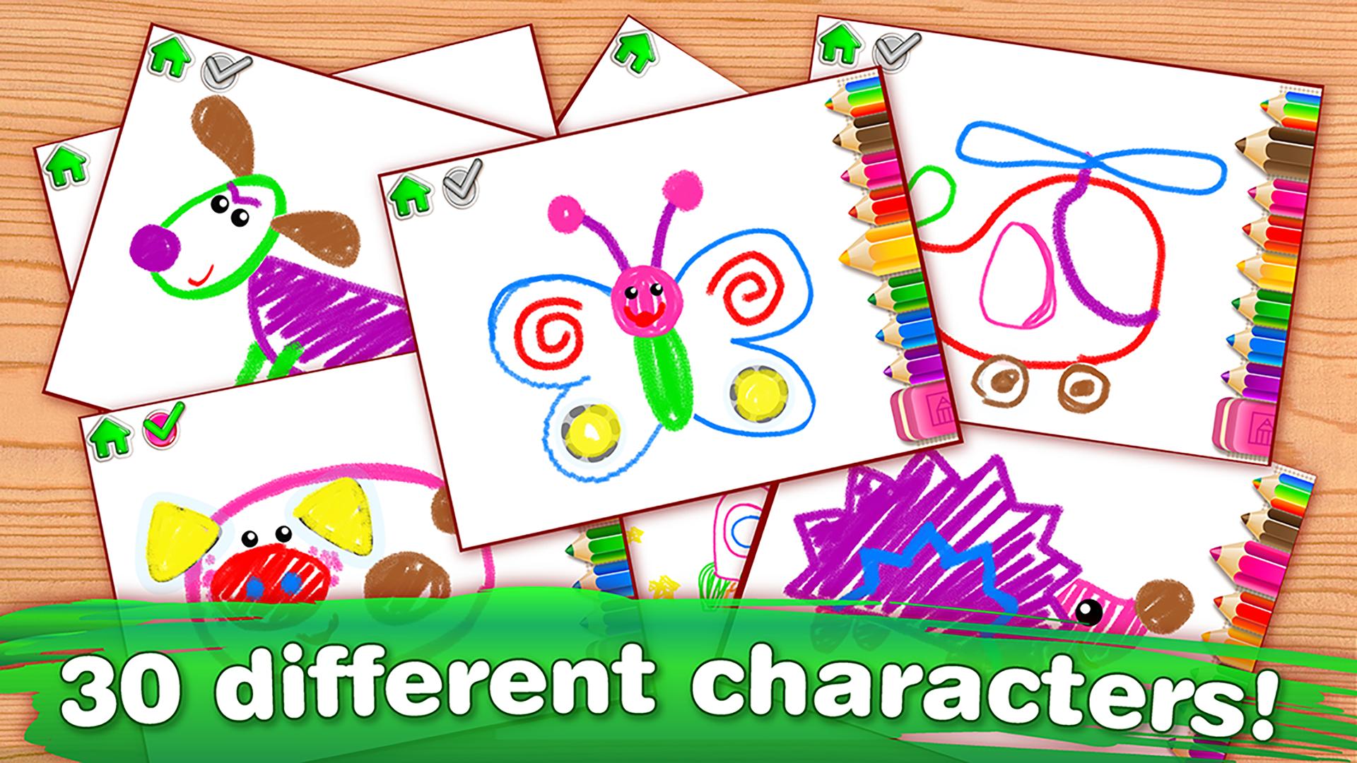 """""""子供のための絵画練習""""線をなぞりましょう! 子供向けの学習ゲーム。 幼稚園教育"""