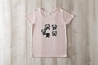 黒猫探偵社【8ダンス】ネコ柄Tシャツ ベビーピンク レディース&ガールズ