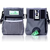 Paw Lifestyles ? Dog Treat Training Pouch ? Easily Carries Pet Toys Kibble Treats ? Built-in Poop Bag Dispenser ? 3 Ways to W