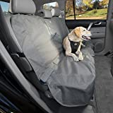 Kurgo Dog Seat Cover | Car Bench Seat Covers for Pets | Dog Back Seat Cover Protector | Water Resistant for Dogs | Contains S