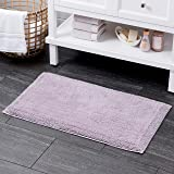 """100% Turkish Cotton Bath Rug with Non Slip Backing 21"""" X 34"""" Lilac"""
