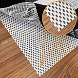 Non-Slip Rug Pad Gripper - 2 x 3 Ft Anti Skid Carpet Mat, Provides Protection for Hardwood Floors and Hard Surfaces, Extra St