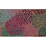 Ninamar Door Mat Bright Flowers Natural Coir – 29.5 x 17.5 inch