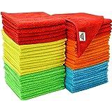 "S&T Bulk Microfiber Kitchen, House, & Car Cleaning Cloths - 50 Pack, 11.5"" x 11.5"""