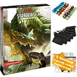 Dungeons Dragons Starter Set 5th Edition - DND Starter Kit - Dice in Black Bag - Fun DND Rolling Board Games Adults Adult Mag