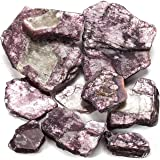 KALIFANO Lepidolite Pack with Healing & Calming Effects - High Energy Crystal Used for Soothing Anxiety and Stability (Inform
