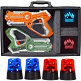 Dynasty Toys Laser Tag Capture The Flag Glow in the Dark Toys Set for Indoor Games at Home / Outdoor Night Birthday Party