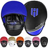 Punching Mitts Kickboxing Muay Thai MMA Boxing Mitts Training Focus Punch Mitts Bags Hand Target Pads for Kids, Men & Women (
