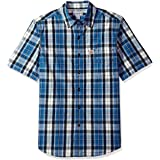 CARHARTT Men's Essential Plaid Button-Down Short Sleeve Shirt