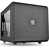 Thermaltake Core V21 SPCC Micro ATX Cube Computer Chassis CA-1D5-00S1WN-00, Black