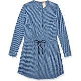 Tommy Hilfiger Women's Adaptive Shirt Dress with Magnetic Closure at Back, Olympian Blue-PT/Multi