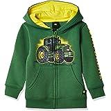 John Deere Mens Fleece Zip Hoody Hooded Sweatshirt