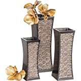 Dublin Decorative Vase Set of 7.6cm Gift Box, Durable Resin Flower Vase set Decor, Rustic Decorated Dining Table Centrepiece