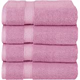 Utopia Towels Luxury Bath Towels, 4 Pack, 27x54, Hotel and Spa Towels (Pink)