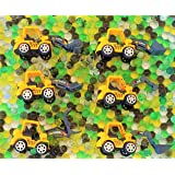 SENSORY4U Dew Drops Water Beads Construction Zone Tactile Sensory Kit - Tractor Toys Included - Great Fine Motor Skills and S