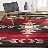 Home Dynamix Sagrada Southwest Area Rug 5x7 Black/Red/Ivory