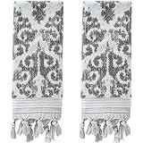 SKL Home by Saturday Knight Ltd. Mirage Fringe 100% Turkish Cotton Hand Towel Set, Gray