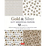 Silver and Gold Gift Wrapping Papers - 12 Sheets: 12 Sheets of High-Quality 18 x 24 inch Wrapping Paper