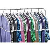 Clear Vinyl Shoulder Covers Closet Suit Protects Storage Home Decor Set of 12, 30cm H x 60cm W x 5.1cm D