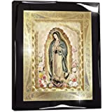 """Framed Our Lady of Guadalupe Body Portrait Roses Gold Foil (10""""x12"""") - Religious Wall Art Print Poster"""