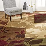 "Home Dynamix HD5282-999 Amelia Modern Area Rug, 5'2""x7'2"" Rectangle, Beige/Green/Red"