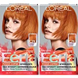 L'Oreal Paris Feria Multi-Faceted Shimmering Permanent Hair Color, C74 Intense Copper, Pack of 2, Hair Dye