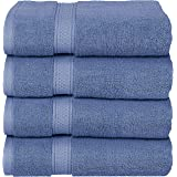 Utopia Towels Premium Combed Cotton Bath Towels, 4 Pack, Wedgewood