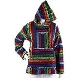 Lily Go Valley Unisex Multicolor/Rainbow Mexican Baja Hoodie Jacket