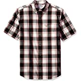 CARHARTT Men's Big Essential Plaid Button Down Collar SS Shirt