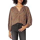 Amazon Brand - Goodthreads Women's Fluid Twill Volume-Sleeve Poet Shirt