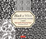 Black & White Gift Wrapping Paper: 6 Sheets of High-Quality Paper