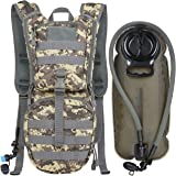 MARCHWAY Tactical Molle Hydration Pack Backpack with 3L TPU Water Bladder, Military Daypack for Cycling, Hiking, Running, Cli